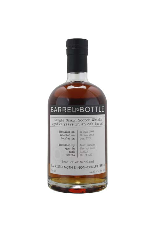 NV Barrel To Bottle Port Dundas Cask 312923 21 Year Single Grain